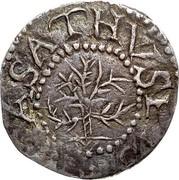 USA III Pence Oak Tree 1652 KM# 8 MASATHVSETS coin obverse