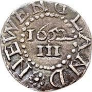 USA III Pence Oak Tree 1652 KM# 8 NEW ENGLAND III coin reverse