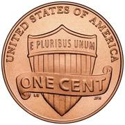 USA One Cent Lincoln 2010 Satin Finish KM# 468 UNITED STATES OF AMERICA ONE CENT E PLURIBUS UNUM coin reverse