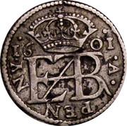UK Penny Elizabeth I Pledge 1601 KM# PnA1 EZB 16 01 IN A PENNY coin reverse