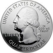 USA Quarter Dollar Mount Hood National Park 2010 KM# 493 UNITED STATES OF AMERICA IN GOD WE TRUST LIBERTY QUARTER DOLLAR coin obverse