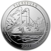 USA Quarter Dollar Vicksburg National Military Park, MS 2011 KM# 516 VICKSBURG MISSISSIPPI 2011 E PLURIBUS UNUM coin reverse