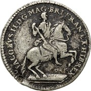 USA Real Val 24 1688 KM# Tn6 American Plantations IACOBVS II DGMAG BRI FRAN ET HIB REX coin obverse