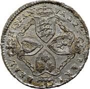 USA Real Val 24 1688 KM# Tn5.4 American Plantations REAL HISPAN VAL 24 PAKT coin reverse