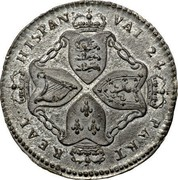 USA Real Val 24 Plantation Token 1688 KM# Tn5.1 REAL HISPAN VAL 24 PAKT coin reverse