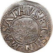 USA Shilling Shilling Willow Tree 1652 KM# 10 MASATHVSETS IN coin obverse