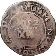 USA Shilling 1652 KM# 6 Willow Tree D N DOM NEW N G A 1652 XII coin reverse