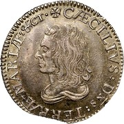 USA Shilling Lord Baltimore 1659 KM# 6 CAECILIVS : DNS : TERRAE - MARIAE : &CT ∙ coin obverse