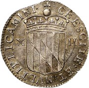 USA Shilling Lord Baltimore 1659 KM# 6 CRESCITE : ET : MVLTIPLICAMINI ∙ XII coin reverse