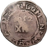 USA Shilling Willow tree 1652 KM# 6 D N DOM NEW N G A 1652 XII coin reverse