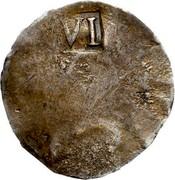 USA VI Pence Sixpence (NE) (1652) KM# 2 VI coin reverse
