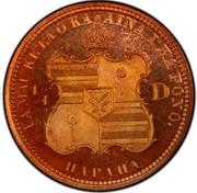USA 1/4 D Hapaha 1883 Proof KM# 5a UA MAU KE EAOKA AINA I KA PONO HAPAHA 1/4 D coin reverse