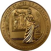 USA $10 Dolley Madison 2007 W KM# 410 ∙ UNITED STATES OF AMERICA ∙ E PLURIBUS UNUM ∙ $10 ∙ 1/2 OZ. .9999 FINE GOLD coin reverse