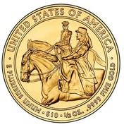 USA $10 Julia Grant 2011 W KM# 510 ∙ UNITED STATES OF AMERICA ∙ E PLURIBUS UNUM ∙ $10 ∙ 1/2 OZ. .9999 FINE GOLD coin reverse