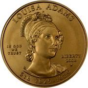 USA $10 Louisa Adams 2008 W KM# 431 LOUISA ADAMS LIBERTY 2008 W 6th 1825 - 1829 IN GOD WE TRUST coin obverse