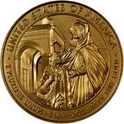 USA $10 Louisa Adams 2008 W KM# 431 ∙ UNITED STATES OF AMERICA ∙ E PLURIBUS UNUM ∙ $10 ∙ 1/2 OZ. .9999 FINE GOLD coin reverse