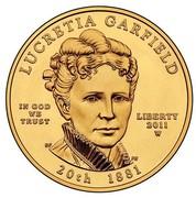 USA $10 Lucretia Garfield 2011 W KM# 512 LUCRETIA GARFIELD LIBERTY 20TH 1881 IN GOD WE TRUST coin obverse