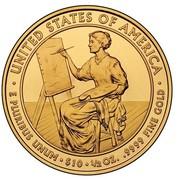 USA $10 Lucretia Garfield 2011 W KM# 512 ∙ UNITED STATES OF AMERICA ∙ E PLURIBUS UNUM ∙ $10 ∙ 1/2 OZ. .9999 FINE GOLD coin reverse