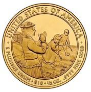 USA $10 Lucy Hayes 2011 W KM# 511 ∙ UNITED STATES OF AMERICA ∙ E PLURIBUS UNUM ∙ $10 ∙ 1/2 OZ. .9999 FINE GOLD coin reverse
