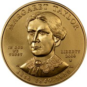USA $10 Margaret Taylor 2009 W KM# 465 MARGARET TAYLOR LIBERTY 2009 W 12th 1849 - 1850 IN GOD WE TRUST coin obverse