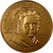 USA $10 Martha Washington 2007 W KM# 407 MARTHA WASHINGTON LIBERTY 2007 W 1ST 1789 - 1797 IN GOD WE TRUST coin obverse