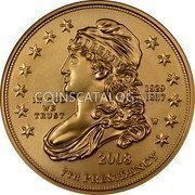 USA $10 Ten dollars (Eagle) Andrew Jackson's Liberty; Bullion Coinage 2008 W KM# 432 LIBERTY 1829 1837 7th PRESIDENCY IN GOD WE TRUST 2008 coin obverse