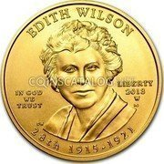 USA $10 Ten dollars (Eagle) Edith Wilson; Bullion Coinage 2013 W Proof KM# 565 EDITH WILSON LIBERTY 28th 1915-1921 IN GOD WE TRUST coin obverse