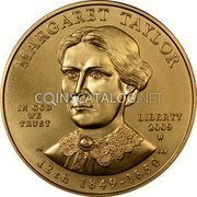 USA $10 Ten dollars (Eagle) Margaret Taylor; Bullion Coinage 2009 W KM# 465 MARGARET TAYLOR LIBERTY 2009 W 12th 1849 - 1850 IN GOD WE TRUST coin obverse