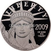 USA $100 One hundred Dollars American Platinum Eagle 2009 W Proof KM# 463 LIBERTY 2009 IN GOD WE TRUST E PLURIBUS UNUM coin obverse