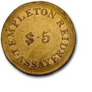 USA $5 1830 KM# 80 Templeton Reid (Georgia) GEORGIA GOLD. 1830 $5 coin obverse