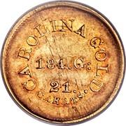 USA 5 Dollars (1842-52) KM# 84 August Bechtler CAROLINA GOLD. 21 CARATS. 134. G: coin reverse