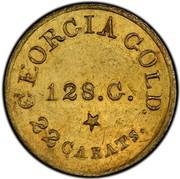 USA 5 Dollars 18XX KM# 77 Christopher Bechtler (Georgia) GEORGIA GOLD. 22 CARATS. 128. G. * coin reverse