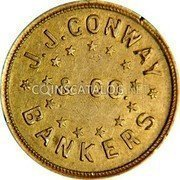 USA $5 Five Dollars (1861) KM# 72.1 J. J. Conway * J.J. CONWAY * & CO. BANKERS coin obverse