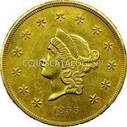 USA $50 Fifty Dollars 1855 KM# 62 Wass, Molitor & Company W. M. & CO coin obverse