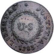 USA Cent 1783 KM# EA6.1 Nova Constellatio • LIBERTAS * JUSTITIA • U • S coin reverse