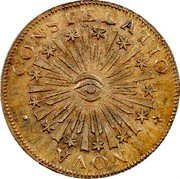 USA Cent 1785 KM# EA8 Nova Constellatio NOVA • CONSTELLATIO coin obverse