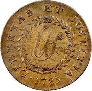 USA Cent 1785 KM# EA8 Nova Constellatio • LIBERTAS • ET • JUSTITIA • coin reverse