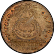 USA Cent 1787 KM# EA34a Fugio Cents FUGIO. MIND YOUR BUSINESS coin obverse