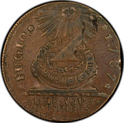 USA Cent 1787 KM# EA31.5 Fugio Cents FUGIO. MIND YOUR BUSINESS. coin obverse