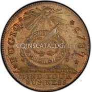 USA Cent 1787 KM# EA34c Fugio Cents FUGIO. MIND YOUR BUSINESS coin obverse