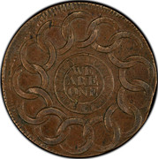 USA Cent 1787 KM# EA31.5 Fugio Cents STATES UNITED WE ARE ONE coin reverse