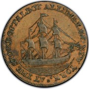 USA Cent 1795 Lettered edge KM# Tn72.5 Talbot, Allum and Lee Tokens * AT THE STORE OF TALBOT ALLUM & LEE NEW YORK. coin reverse