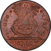 USA Cent Fugio 1787 KM# EA31.2 FUGIO. * MIND ∙ YOUR ∙ BUSINESS coin obverse