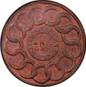 USA Cent Fugio 1787 KM# EA31.2 UNITED STATES WE ARE ONE coin reverse