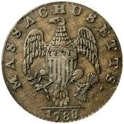USA Cent Massachusetts 1788 KM# 20.6 MASSACHUSETTS. CENT coin reverse