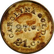 USA Dollar (1842-52) KM# 83.2 August Bechtler CAROLINA GOLD . 21. C. 27. G. coin reverse