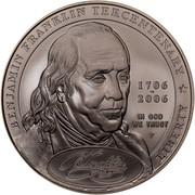 USA Dollar Benjamin Franklin, 300th birth Anniversary 2006 P KM# 388 BENJAMIN FRANKLIN TERCENTENARY LIBERTY IN GOD WE TRUST 1706-2006 P DE coin obverse