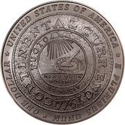 USA Dollar Benjamin Franklin, 300th birth Anniversary 2006 P KM# 388 * UNITED STATES OF AMERICA * E PLURIBUS UNUM * ONE DOLLAR * CONTINENTAL CURRENCY FUCIO EG FECIT MIND YOUR BUSINESS 1776 DW coin reverse