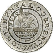 USA Dollar Continental Dollar 1776 KM# EA2 CONTINENTAL CURRENCY FUGIO MIND YOUR BUSINESS EG FECIT coin obverse