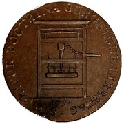 USA Franklin Press Token 1794 KM# Tn73 Franklin Press Tokens • SIC ORITUR DOCTRINA SURGETQUE LIBERTAS coin obverse